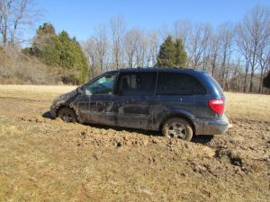 Van Stuck In Mud