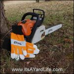 Stihl Gloves With Chain Saw